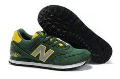 0afd189f3cdf3 New Balance 574 gamuza verde Gris hombres zapatillas