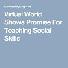 Virtual World Shows Promise For Teaching Social Skills