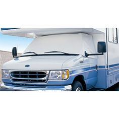 Extra heavy-duty automotive white vinyl matches most RV paint schemes. Protects your dashboard from fading and cracking due to sun exposure. Provides privacy and keeps temperatures cooler in the vehicle. Motorhome Sprinter, Mini Motorhome, Rv Motorhomes, Windshield Cover, Ram Promaster, Rv Parts And Accessories, Camping Accessories, Class B, Paint Schemes