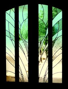 Contemporary twist on stained glass doors