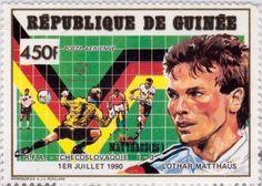 """Copa mundial de fútbol """"Italia 90"""" Lothar Herbert Matthäus País: República de Guinea"""