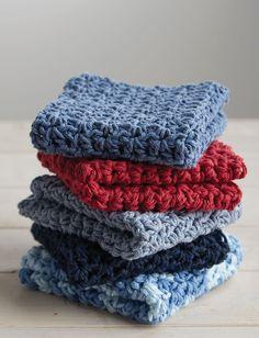 Yarnspirations.com - Lily Hostess Dishcloths   - Patterns  | Yarnspirations