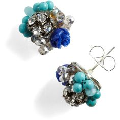 Stunning by the Stream Earrings ($30) ❤ liked on Polyvore
