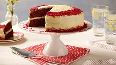 Try this easy Red Velvet Cake Recipe for an impressive red chocolate cake with delicious cream cheese icing. Brought to you by Betty Crocker.