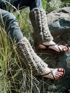 Chunky Wool Crochet Legwarmers Made to Order by IntheStitch, $65.00