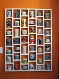 Coffee cup display = must have cute mug collection