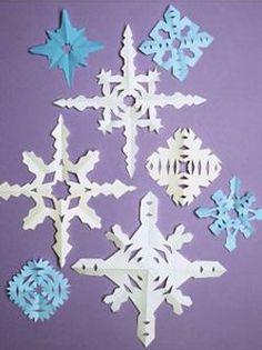 Y aura-t-il de la neige à noël ? Rien de certain... Alors histoire de donner un petit coup de pouce au destin, fabriquez vous-même vos petits flocons de neige en papier !