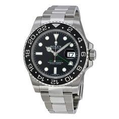 Rolex GMT Master II Black Index Dial Oyster Bracelet Steel Men's Watch 116710BKSO