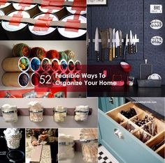 52 Feasible Ways To Organize Your Entire Home | Myhealthytricks.com Organizing Your Home, Cool Diy, Getting Organized, Fun Crafts, Liquor Cabinet, Workshop, Diy Projects, Design Inspiration, Organization