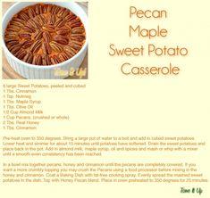 Pecan Maple Sweet Potatoes