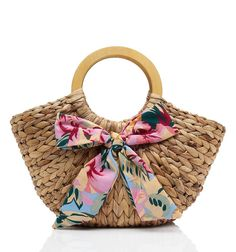 Palm Springs Straw Bag  -Forever New