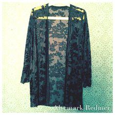 Velvet burnout evening jacket S/M by AlvemarkRedmer on Etsy