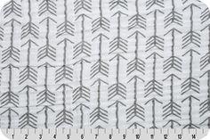 Shannon Embrace Archer Graphite, gray and white arrow Modern cotton double gauze swaddle fabric