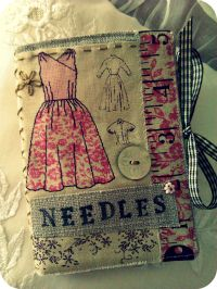 Would be neat to keep a journal of dresses made using scrap fabric from them