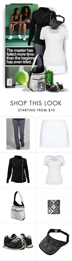"""""""Black and White Tennis Styles - Nicole's Tennis Boutique"""" by nicolestennisboutique ❤ liked on Polyvore featuring Jofit and adidas"""