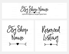 ON SALE - Etsy Cover Photo - Logo Etsy Shop Covers -  Simple Etsy Covers - 3  Piece Etsy Shop Cover Set - Ella by RhondaJai on Etsy