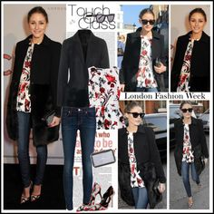 """""""Olivia Palermo at the Anya Hindmarch show at London Fashion Week, Feb 19"""" by robilollo ❤ liked on Polyvore"""