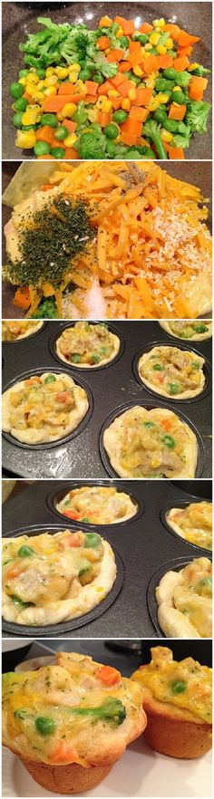 Cheesy Chicken Pot Pie Cups, holiday appetizers here i come