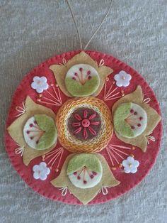 Mandala em feltro