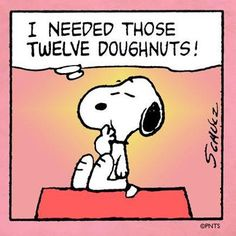 I needed those twelve donuts. Charlie Brown Y Snoopy, Snoopy Love, Snoopy And Woodstock, Snoopy Cartoon, Peanuts Cartoon, Cartoon Logic, Cartoon Pics, Peanuts Comics, Peanuts Gang
