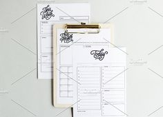 Monochrome Planner Bundle A5 PDF by Design is Yay. This listing consist of all three life planners, essential for a more organised and focused life. You will get A5 pdf file of daily, weekly and monthly planner.