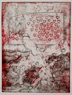 Two in one  Soft-ground etching and drypoint by mrchurchyard