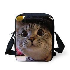Brand Design British Shorthair Black Cat Women Messenger Bags Casual Crossbody Bags,Lady Small Travel Shoulder Cross Body bag