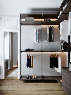Wardrobe Room, Wardrobe Design Bedroom, Modern Wardrobe, Closet Bedroom, Home Room Design, Loft Design, Minimalist Closet, Minimalist Style, Dressing Room Design