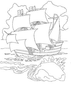 coloring pages mayflower pilgrims corn   FREE Colonial America Coloring Pages   History Resources ...