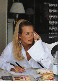 September 1992 Model : Claudia Schiffer Photographer : Marc Hispard