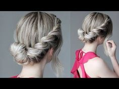 How To: Easy Updo | French Rope Braid - YouTube