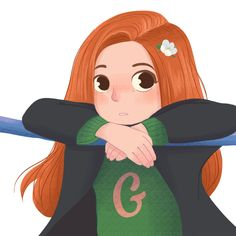 """with for the second day it's """"Must be a Weasley"""".and I really love all of the Weasley family but. stage is Ginny's today 😉 The day Three is coming up soon! Harry Potter Fan Art, Magia Harry Potter, Harry Potter Drawings, Harry Potter Magic, Harry Potter Anime, Harry Potter Facts, Harry Potter Universal, Harry Potter Fandom, Harry Potter World"""
