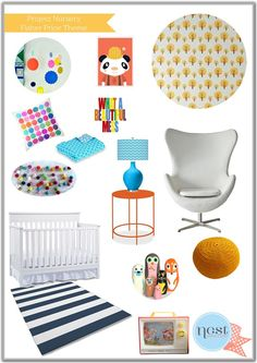 Nest Design Studio - Fisher Price inspired nursery  #fisherprice #pinparty