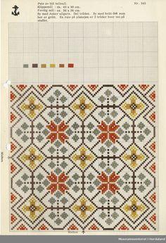Trykt mønsterark i til brodert tekstil. Blackwork Cross Stitch, Cross Stitch Charts, Cross Stitch Designs, Cross Stitching, Cross Stitch Patterns, Butterfly Dragon, Monarch Butterfly, Chart Design, Tapestry Crochet