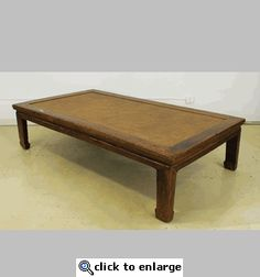 Antique Asian Platform Double Bed