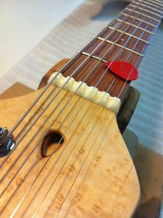 Stephen Strahm Guitars Isabella prototype... like the scalloped nut and truss rod adjustment hole
