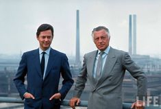 The Keystone 4x1. Gianni Agnelli, with brother Umberto Agnelli, 1968.