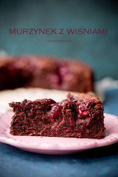 Ciasto czekoladowe z wiśniami   Moje Wypieki