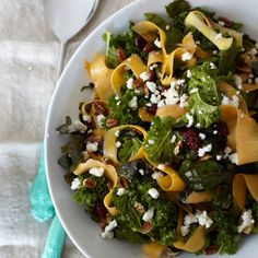 Kale, Swiss Chard, and Butternut Squash Salad by Candice Kumai (photo: Lauren Volo)