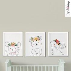 Kézzel rajzolt erdei állatok babaszoba falikép szett Home Decor, Decoration Home, Room Decor, Home Interior Design, Home Decoration, Interior Design