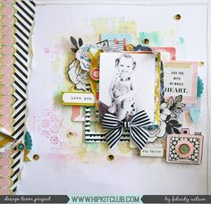 Designer @flisw is the queen of dimension and layers and used the August 2017 Hip Kits to create this gorgeous dimensional layout!
