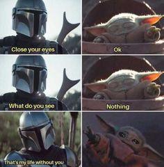The Mandalorian and The Child aka Baby Yoda (Star Wars) Bro Star Wars Baby, Star Wars Witze, Star Wars Meme, Really Funny Memes, Stupid Funny Memes, Funny Relatable Memes, Funny Stuff, Hilarious, Yoda Meme