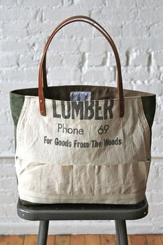 WWII era Camo & Lumber Apron Tote Bag - FORESTBOUND