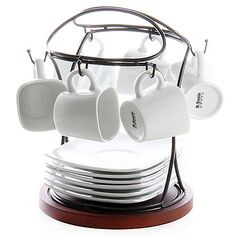 I don't need this exact one, but I do like this style.  B. Smith 13-Piece Espresso Set