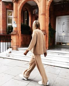 Effortlessly combining the athleisure and nightwear-as-daywear trends, knitted trousers have become a fashion favourite, guaranteeing a warm, casual daytime look that's both versatile and chic.