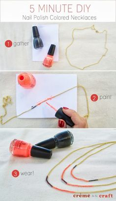 How to Make Your Own Nail Polish Color: Many girls used this product when she went to party and or special events. When she use nail polish, she looks charming. In this post, I show you how to make your own nail polish color at your home. Do It Yourself Mode, Do It Yourself Fashion, Do It Yourself Crafts, Diy Fashion Projects, Diy Craft Projects, Diy Crafts, Craft Ideas, Nail Polish Crafts, Nail Polish Colors