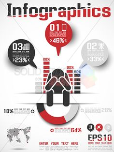 stock illustration of infographics modern business icon man style 4