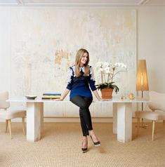 Prize for Most Gorgeous Office always goes to Aerin Lauder