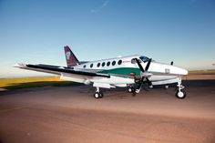Our main aircraft , a KingAir 100