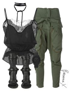 """""""Untitled #3191"""" by breannamules ❤ liked on Polyvore featuring Faith Connexion, Fleur du Mal and BOSS Black"""